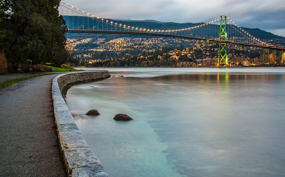 Stanley Park Seawall View Royalty Free Stock Photo
