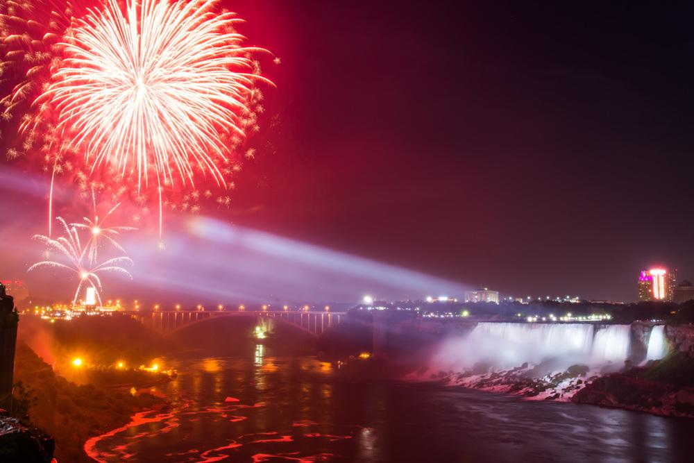 Little Niagara Falls Fireworks