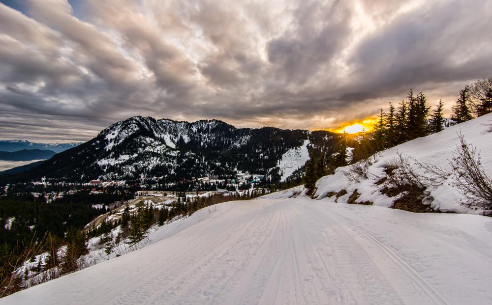 Sunset Ski Run