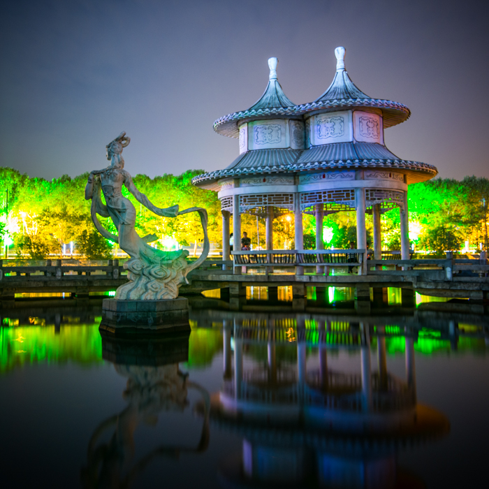 Huangshi China  City new picture : Chinese Gazebo Royalty Free Stock Photo