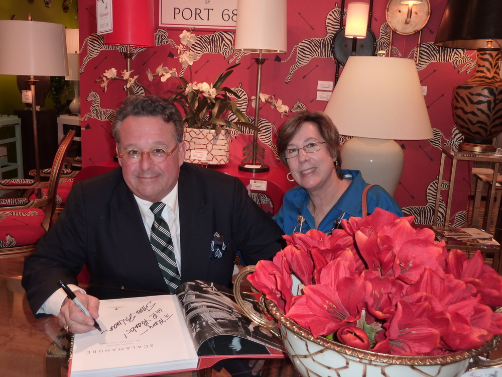 Book signing with Steven Stolman, President of Scalamandre.