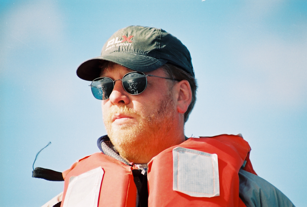Jim Lustig on the watch for Gray Whales
