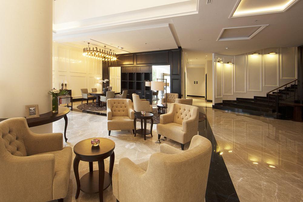 Lobby at De Paviljoen Hotel, Bandung
