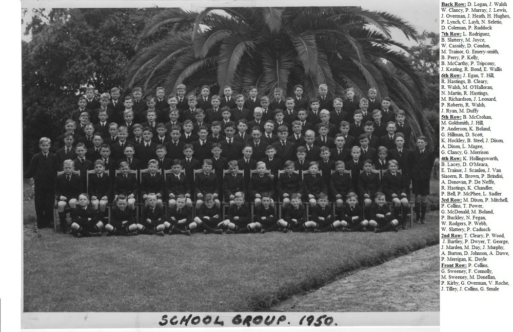 Whole school photo 1950