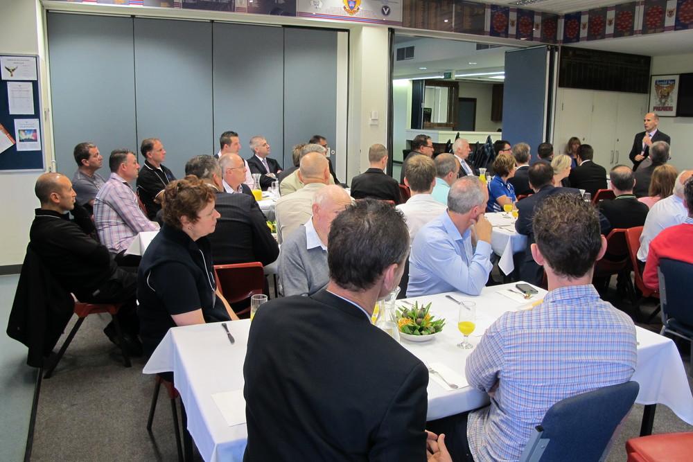 Mark Murphy addressing the Business Breakfast