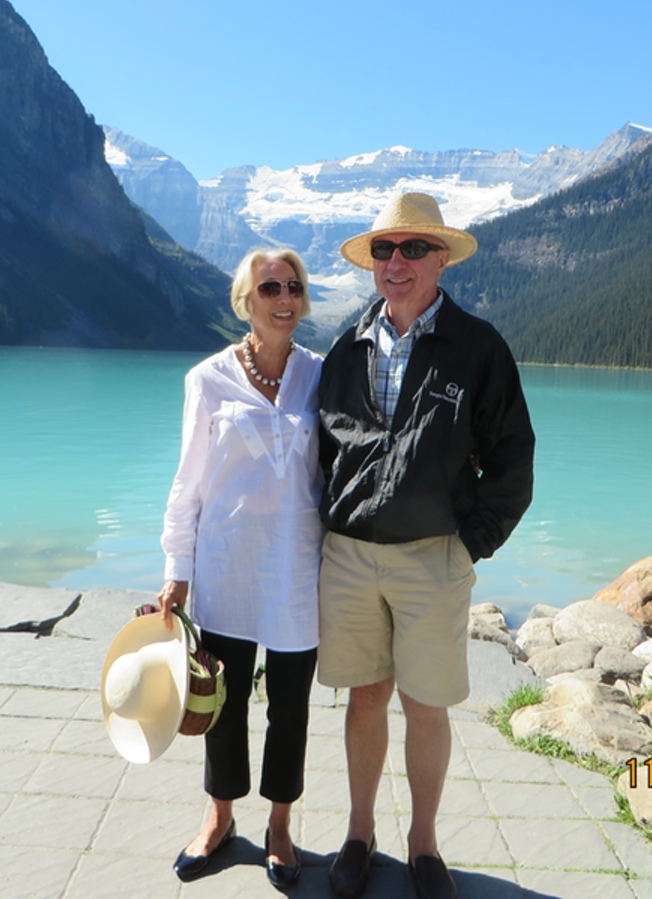 Peter and wife Sue, Lake Louise, Canada