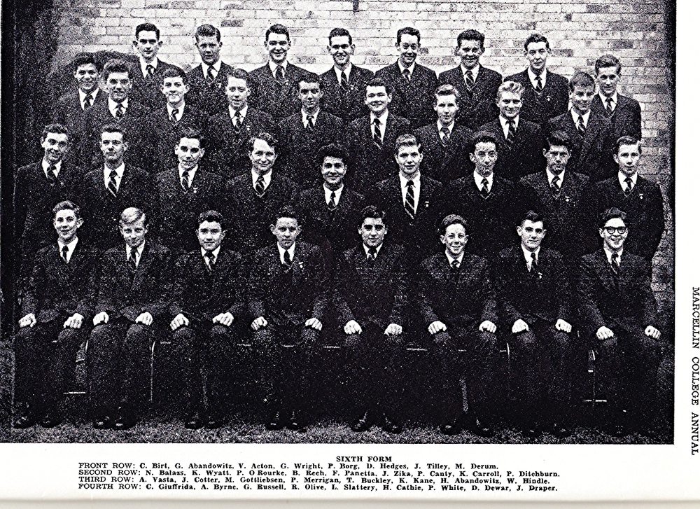 Peter Ditchburn far right, 3rd row from front