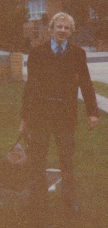 Tony on way to school 1983