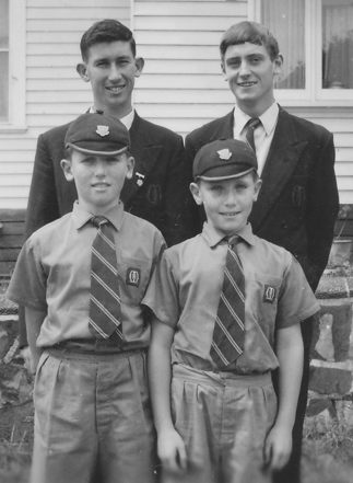The four Millane brothers in 1961. Brendan and Brian at back and Damian and Julian in front.