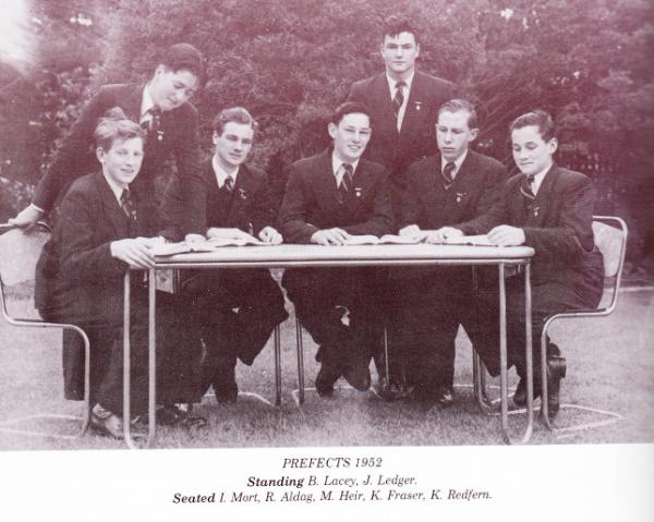 Michael Hehir,Prefects 1952 1.jpg