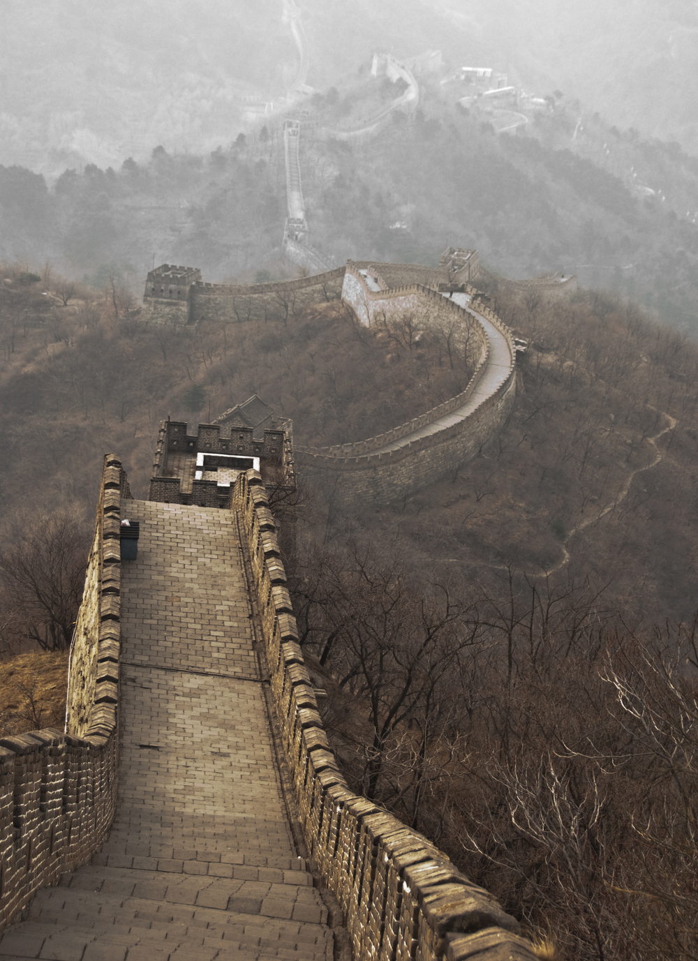 BEIJING, CHINA – The Great Wall in March 2009.