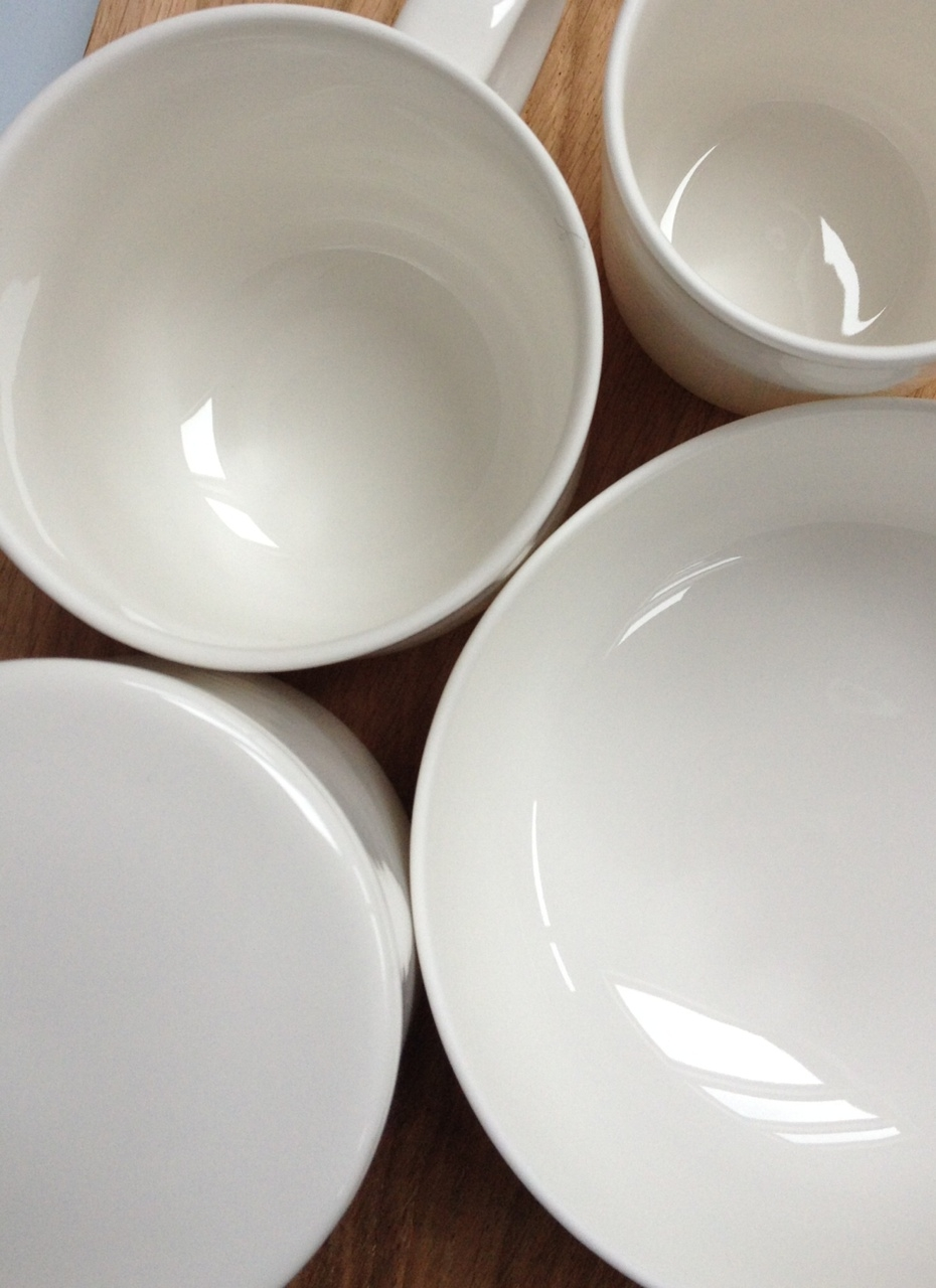 First preview of glazed bone china bowls