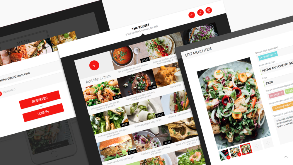 Web portal for restaurants