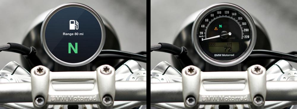 BMW R nineT interfaces