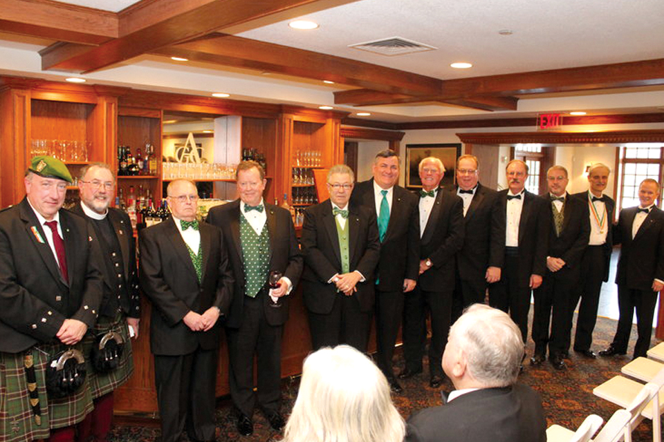 Friendly Sons of St. Patrick Board of Management Members: Director William E. Watson, PhD; Membership Committee Chairperson Rev. Dr. J. Francis Watson; Director Ted Powell; Treasurer John C. Heenan; Director Thomas P. Jordan Jr.; Vice President Kevin J. Maginnis, Esq.; Director Edward J. Wilbraham, Esq.; Director Bernard E. Kueny III, Esq.; Director David M. Stewart; Director Martin L. Ward, CPA; Secretary Russell W. Wylie; President Joseph P. Heenan