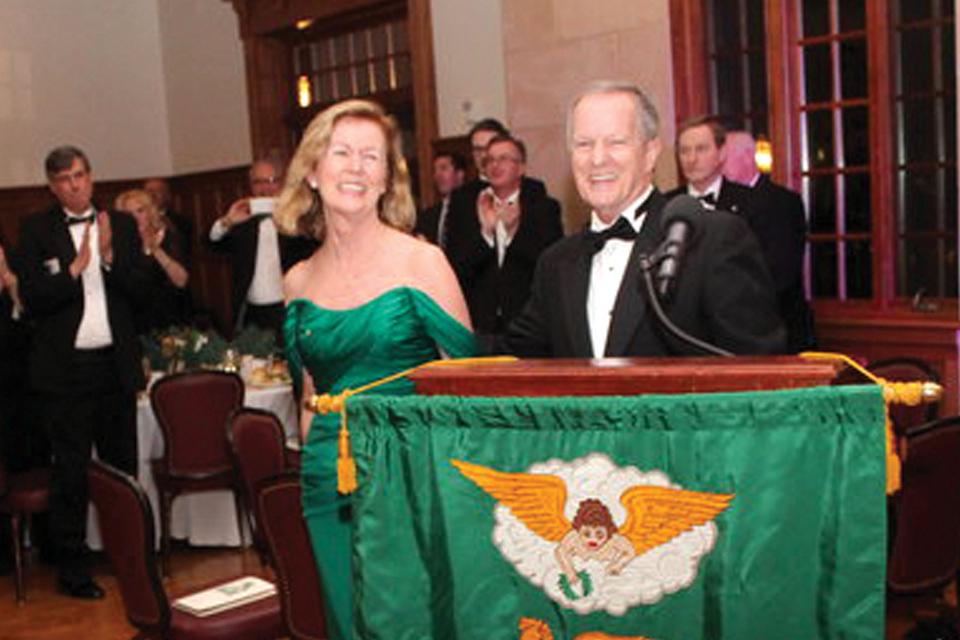Irish Ambassador Anne Anderson; Friendly Sons President Joseph P. Heenan