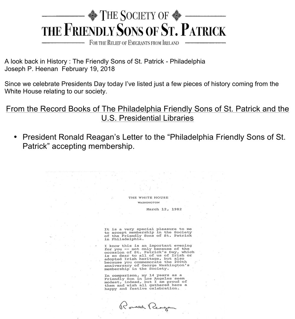 A look back in History The Friendly Sons of St. Patrick  Philadelphia and events from the White House.jpg