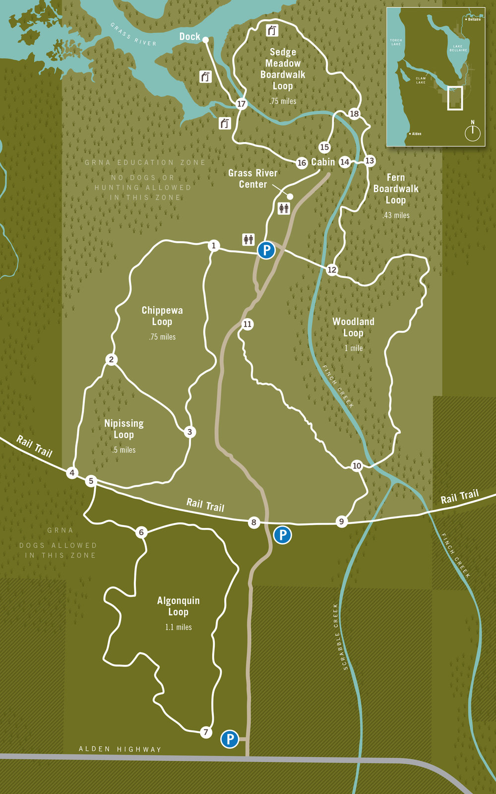 GRASS RIVER NATURAL AREA - TRAIL MAP