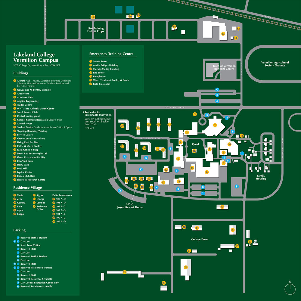 LAKELAND COLLEGE - DIRECTORY MAP