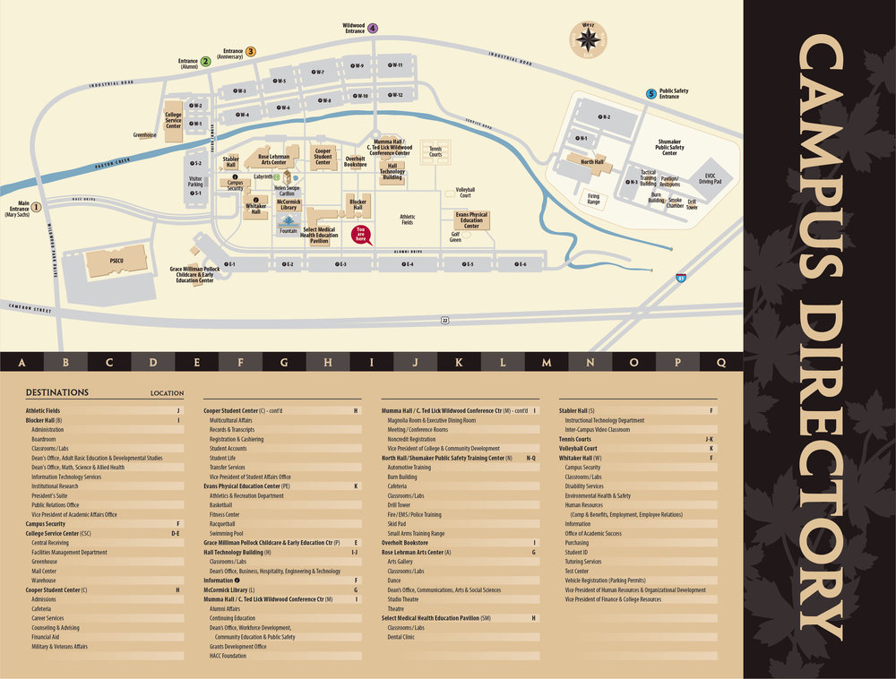 HARRISBURG AREA COMMUNITY COLLEGE CAMPUS DIRECTORY