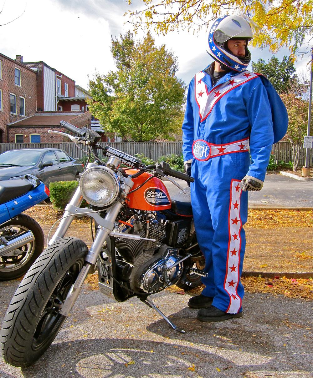 My alternate Evel Knievel ego.