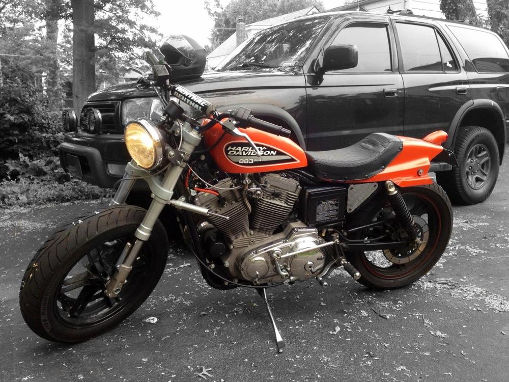 Custom Harley Flat Tracker - A work in progress
