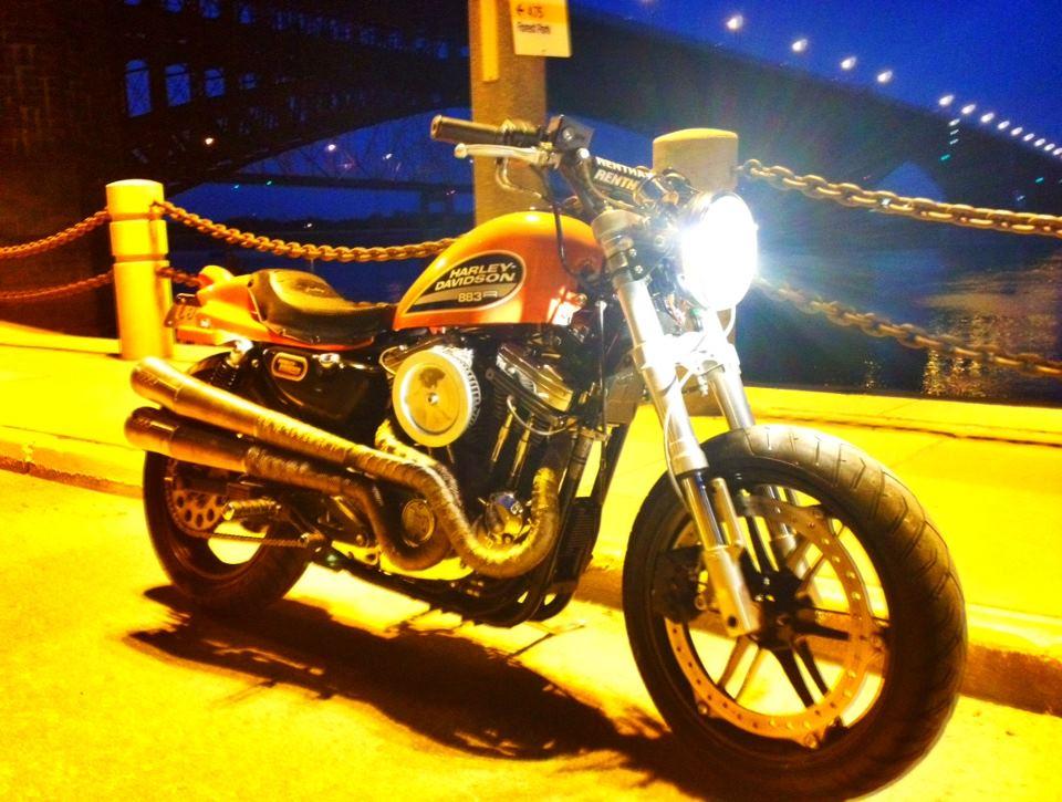 Dine' Metalworks built Harley Flat Track style bike.