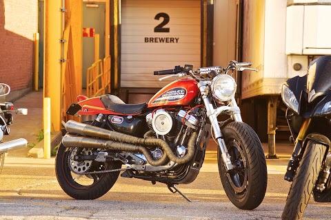 Harley Flat Track build at a Vintage Bike Night