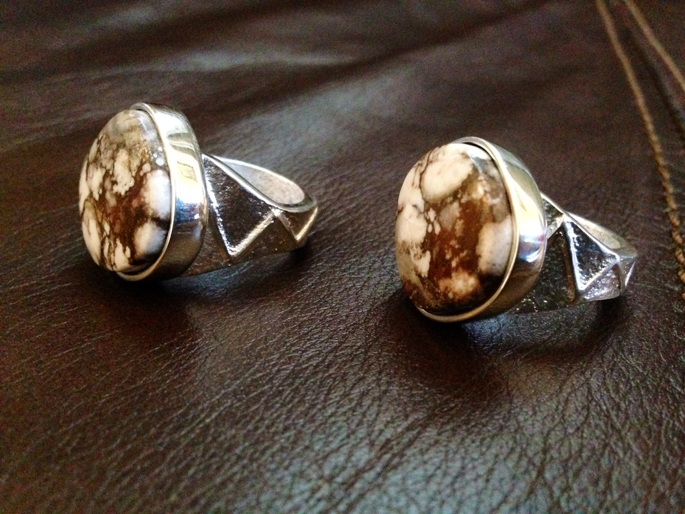 Wild Horse and Sterling Ring Set