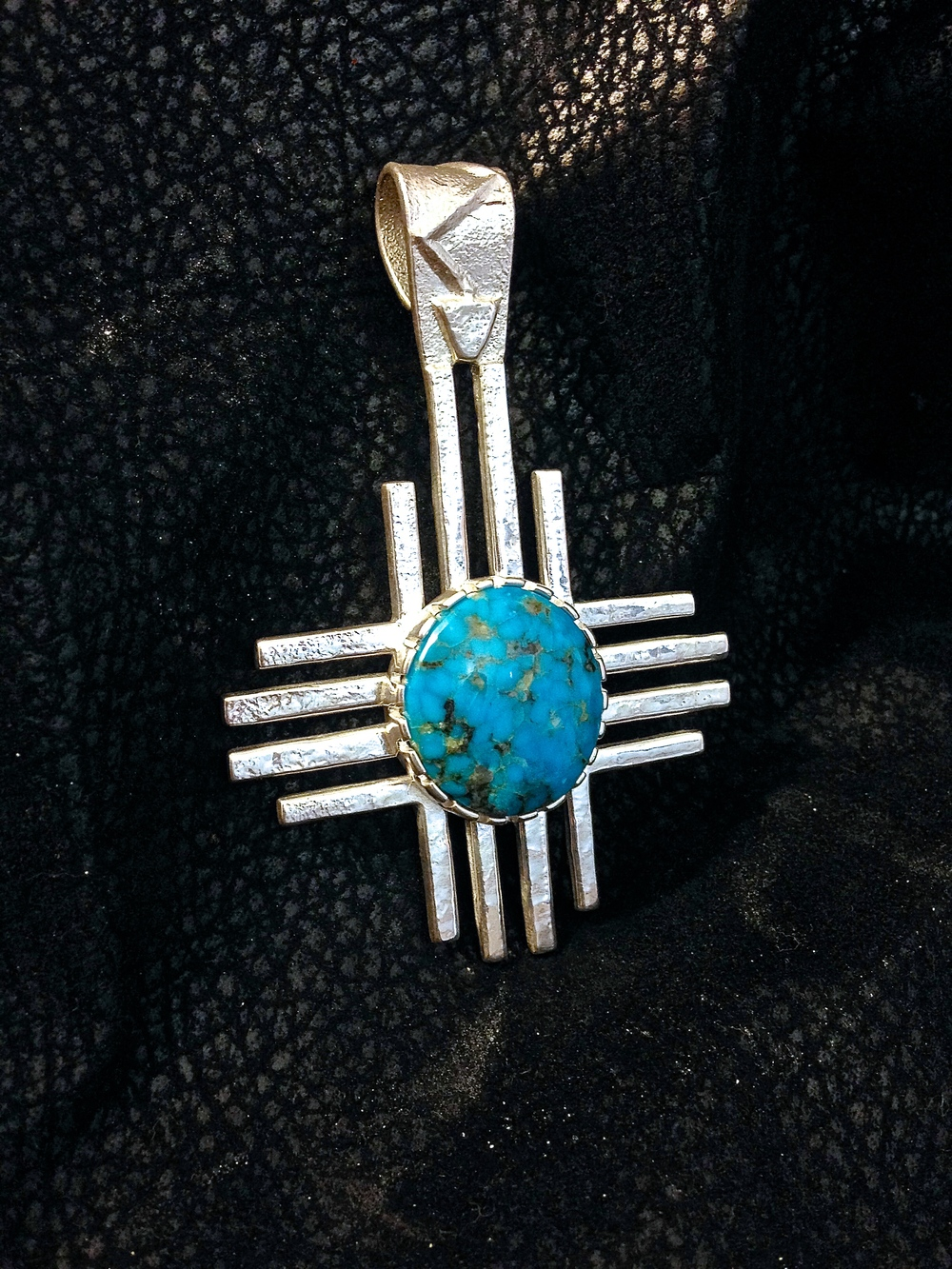 Sterling Silver & Blue Bird Turquoise