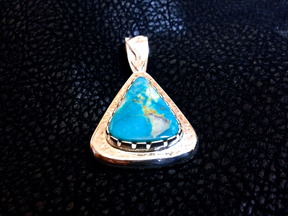 Sterling Silver & Turquoise Mountain Turquoise