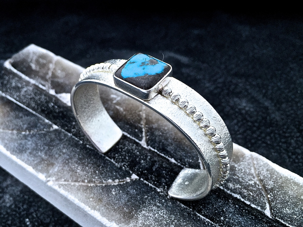 Sterling Silver & Bisbee Blue Turquoise