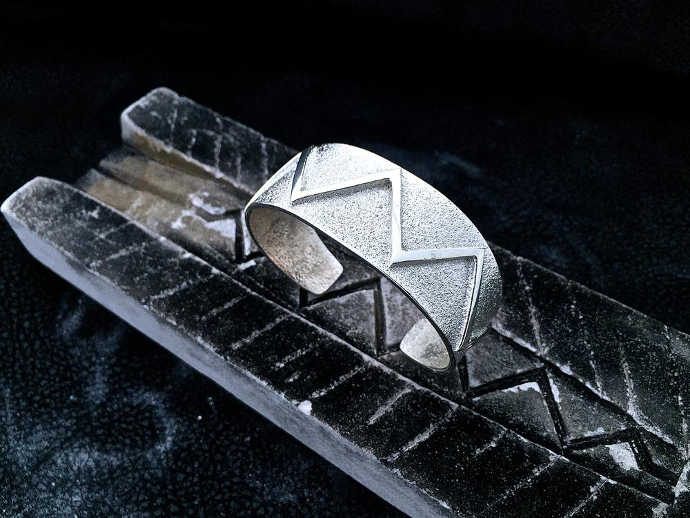 Sterling Silver Lightning Cuff