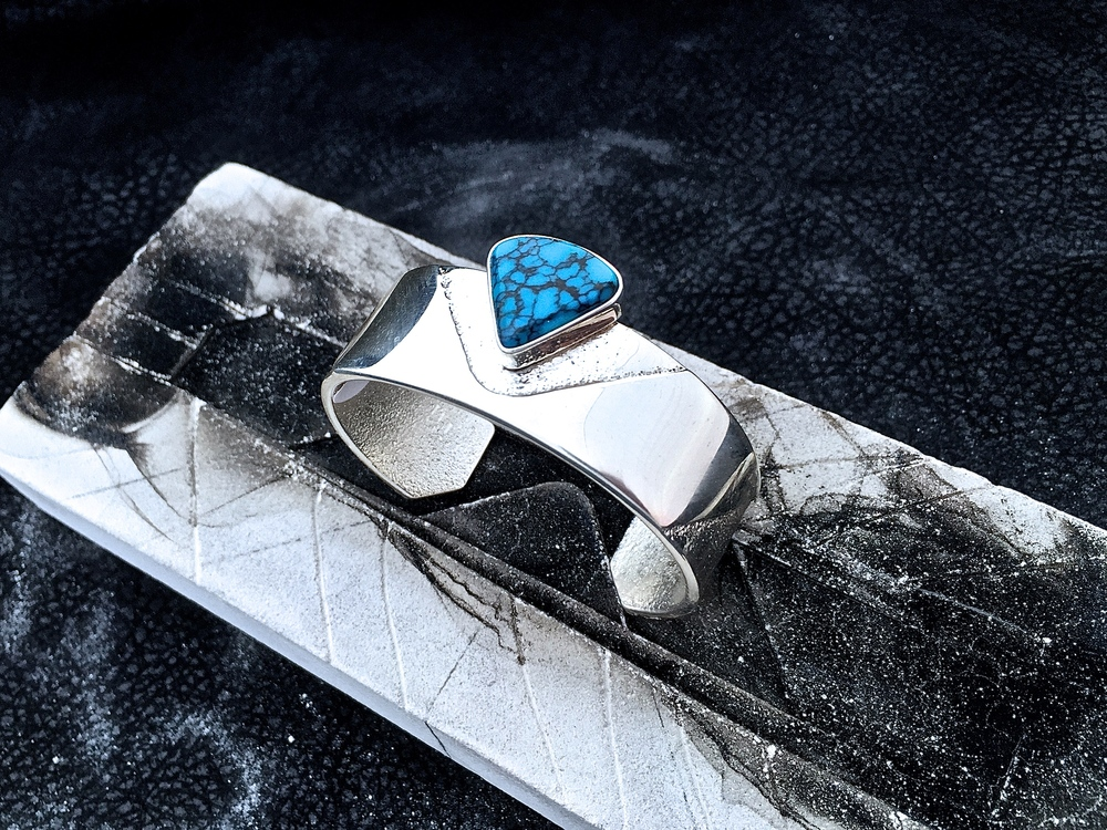 Sterling Silver & Cloud Mountain Turquoise
