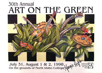 The 1998 Poster Contest Winner is  Georgie Hylton  of Coeur d'Alene. Georgie is a Graphic Designer/ Illustrator/ Artist/ Web Designer.