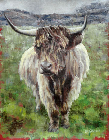 Uig Highlander by Jan Clizer - one of the 2013 Art on the Green juried show prize winners.