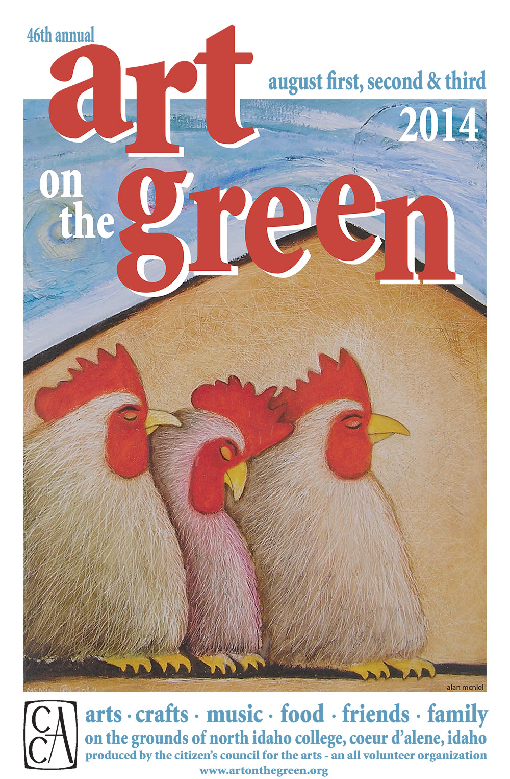 2014 Art on the Green Poster
