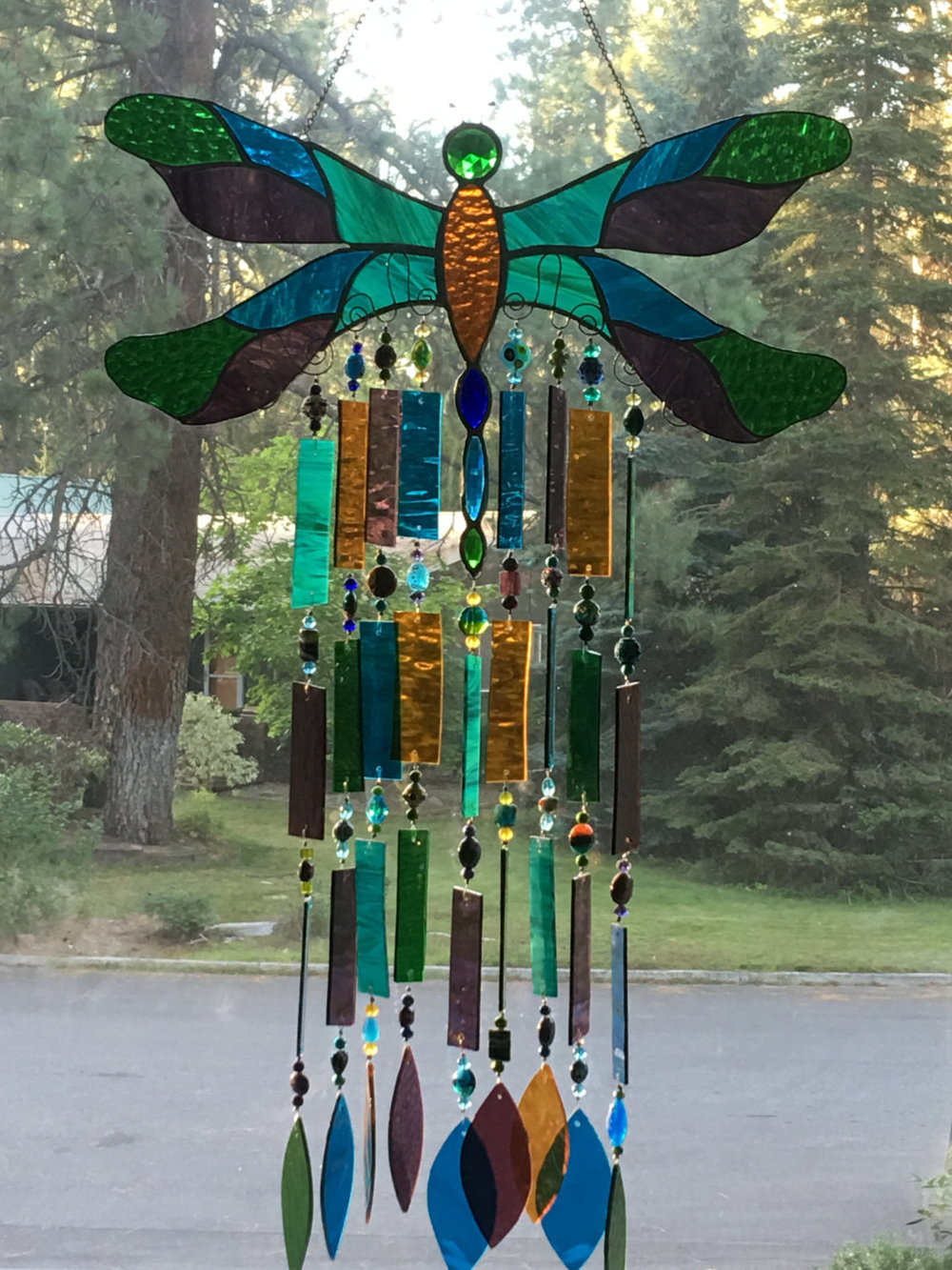 Dragonfly windchime by Cindy Draper