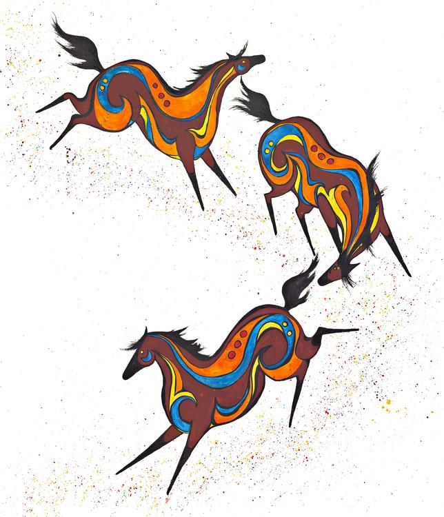Equine Spirits III by Jill Neal