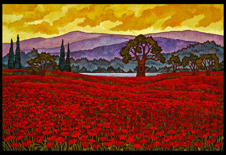 Red Poppies Aix-en-Provence, France by Maia Leisz