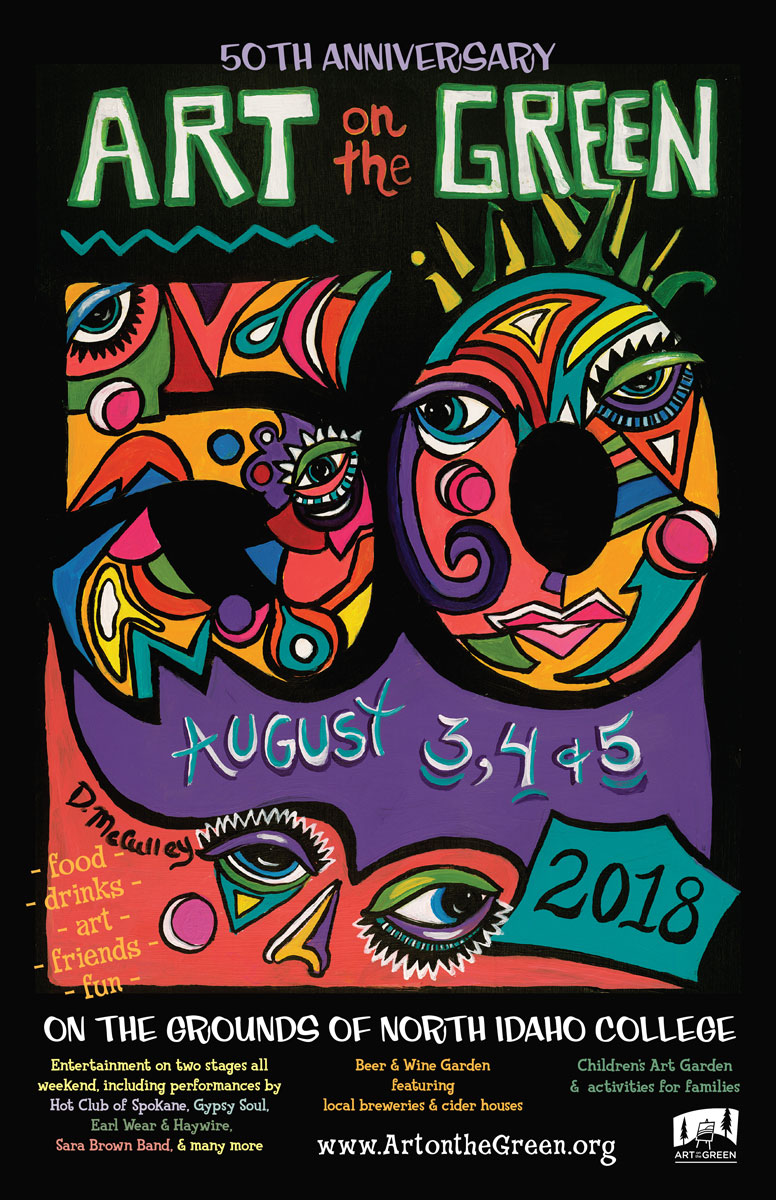 2018 Art on the Green Poster
