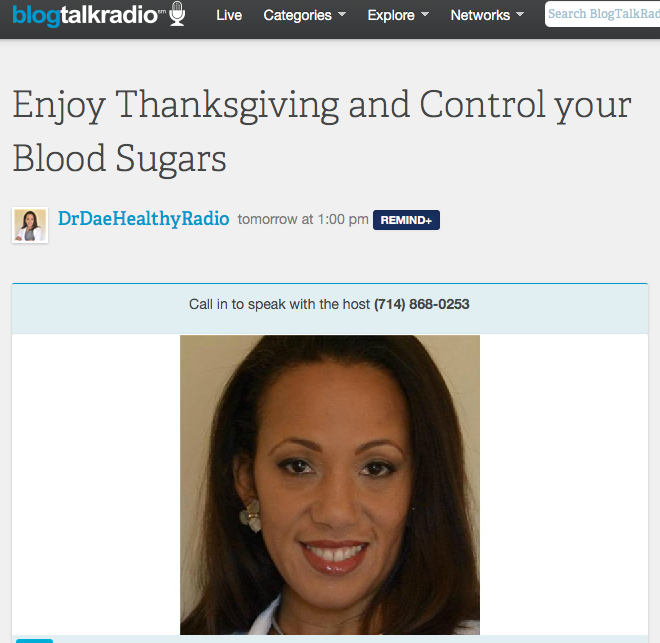 Enjoy Thanksgiving: Control your Blood Sugars