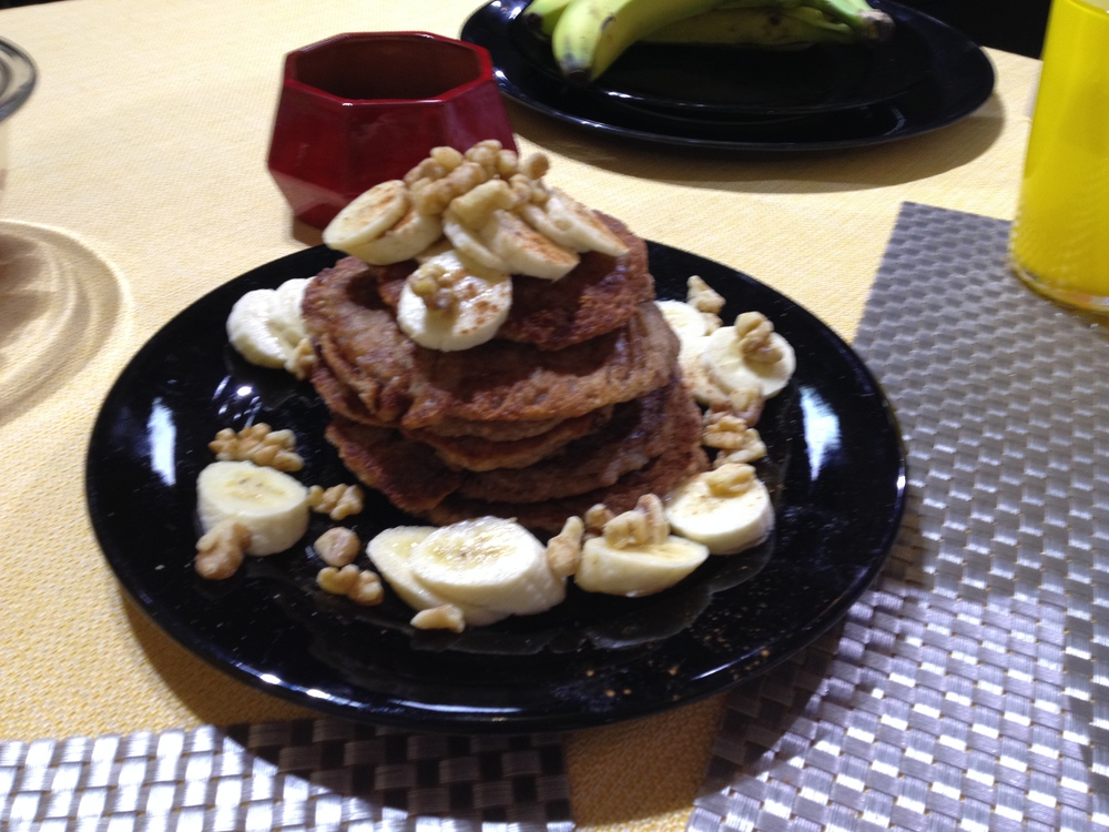 Blissful Banana Pancakes from Vibrant Living Vegan Style by Dr. Daemon Jones