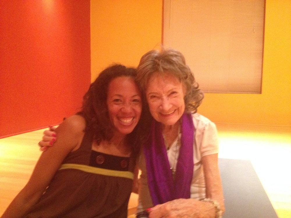 I had the honor of taking a class from the oldest yoga instructor in the world, Tao Porchon-Lynch.  She is a bright light it was awesome to learn more about meditation, Yoga and life from this amazing life.  http://www.taoporchon-lynch.com/