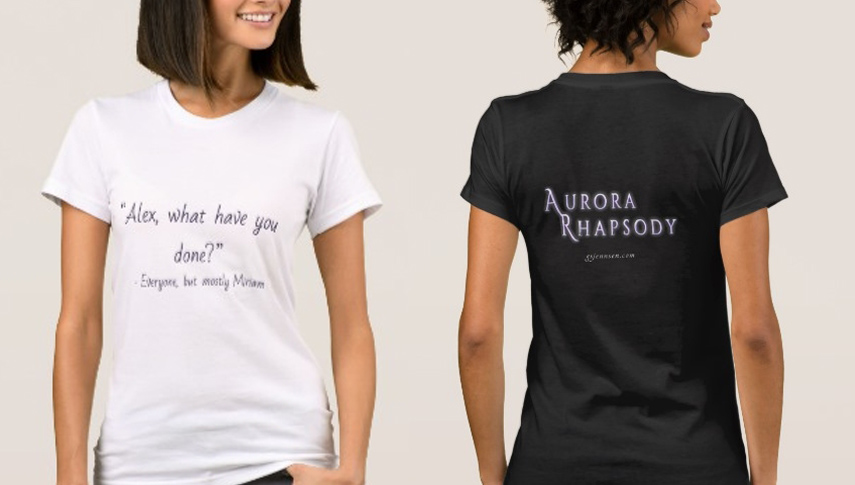 """By popular demand, """"Alex, what have you done?"""" t-shirts are now available in my Zazzle store. Choose your t-shirt color and style (price varies based on style):  Dark version ,  Light version"""