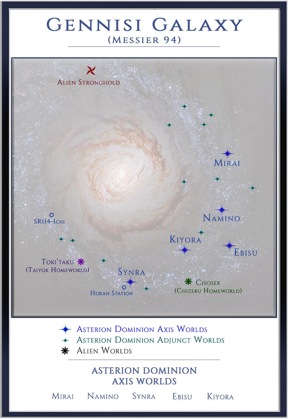EXIN EX MACHINA: Gennisi Galaxy Map