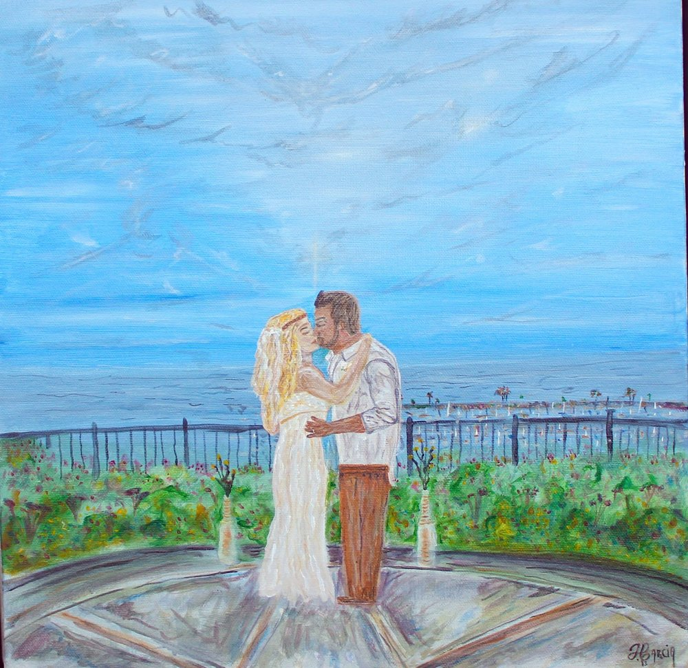 This was a beautiful Day in Dana Point overlooking the harbor and Ocean. A first kiss will always be remembered.