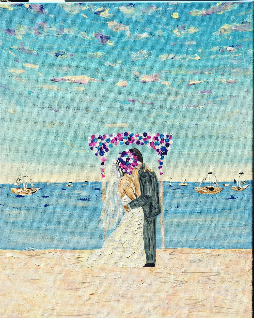 This was a beautiful Destination Wedding. On the Catalina island beach is where they had their first intimate kiss as Mr and Mrs.