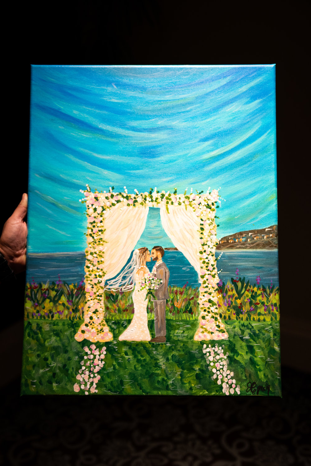 This was painted at the Ritz Carlton in Dana Point California for Mr and Mrs Perez.