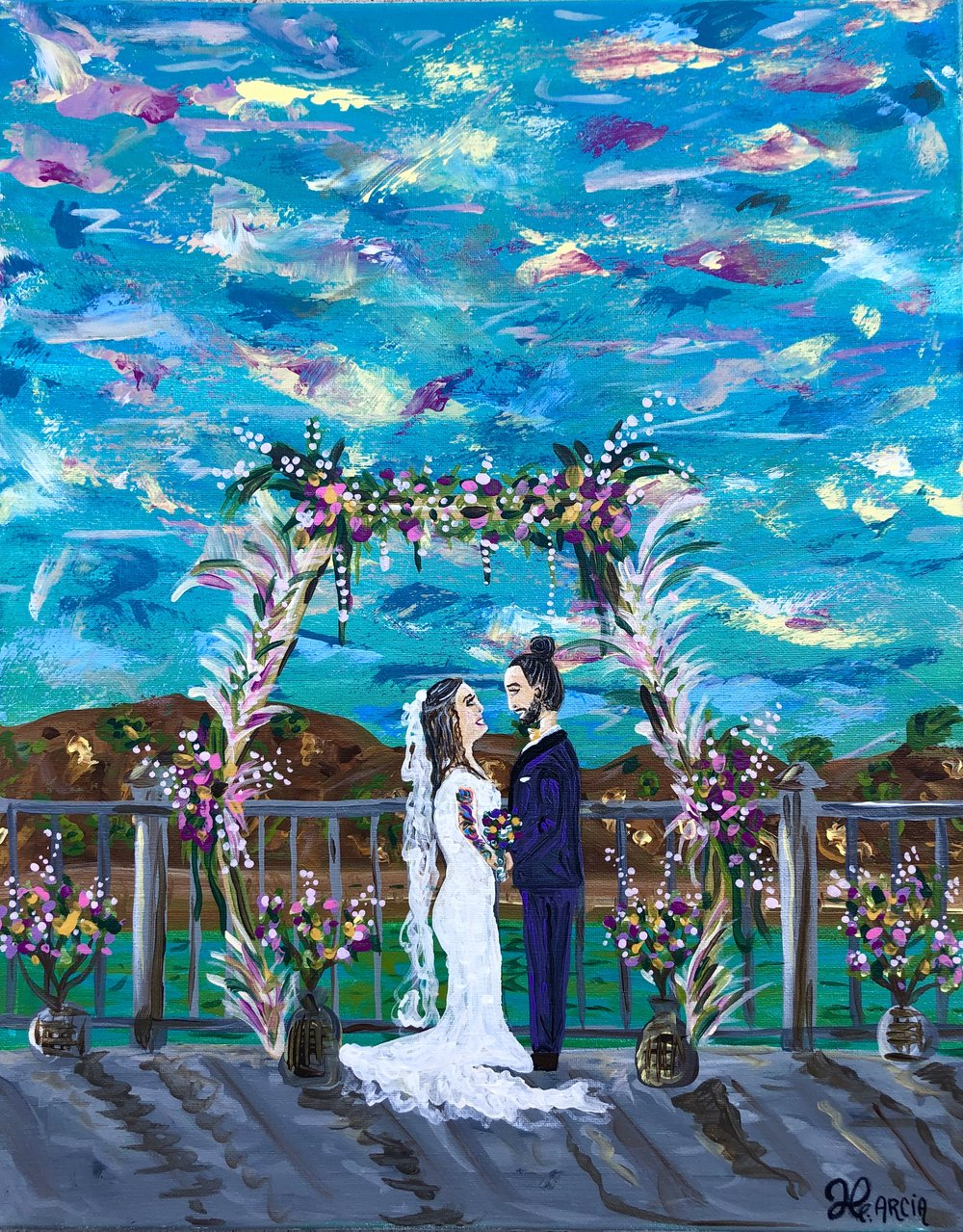 This was painting at Aventura Ocean club in Dana Point Overlooking the beautful ocean